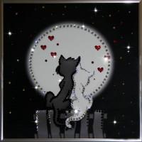 "Картина с кристаллами Swarovski ""Лямур"""
