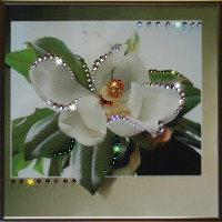 "Картина с кристаллами Swarovski ""Магнолия"""