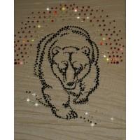 "Картина с кристаллами Swarovski ""Медведь"""