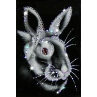 "Картина с кристаллами Swarovski ""Новогодний кролик №1"""