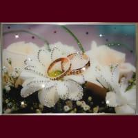 """Картина с кристаллами Swarovski """"Обручальное кольцо"""""""