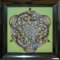 "Картина с кристаллами Swarovski ""Орнамент Змеи"""
