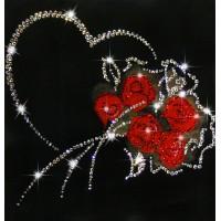 """Картина с кристаллами Swarovski """"От всего сердца"""""""