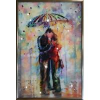 """Картина с кристаллами Swarovski """"Под зонтом"""""""