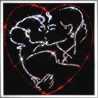 "Картина с кристаллами Swarovski ""Поцелуй"""