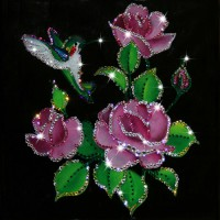 "Картина с кристаллами Swarovski ""Райский сад"""