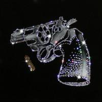 """Картина с кристаллами Swarovski """"револьвер"""""""