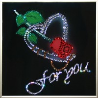"Картина с кристаллами Swarovski ""Роза"""