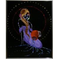 "Картина с кристаллами Swarovski ""Роман с водой"""