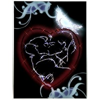 """Картина с кристаллами Swarovski """"С любовью"""""""