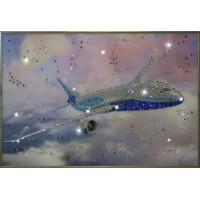 """Картина Swarovski """"Самолет"""""""