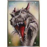 "Картина Swarovski ""Свирепый Дракон"""