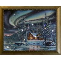 """Картина с кристаллами Swarovski """"Северное сияние"""""""