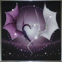 "Картина с кристаллами Swarovski ""Сердце Дракона"""