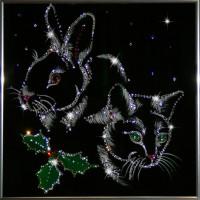 "Картина с кристаллами Swarovski ""Символ года 2011"""