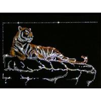 """Картина с кристаллами Swarovski """"Тигр """"Шерхан"""""""""""