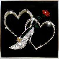 "Картина с кристаллами Swarovski ""Туфелька для золушки"""