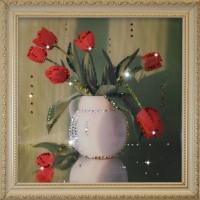 "Картина с кристаллами Swarovski ""Тюльпаны"""