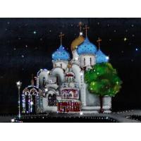 """Картина с кристаллами Swarovski """"Успенский собор Троице-Сергиевой лавры"""""""