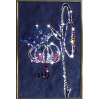 """Картина с кристаллами Swarovski """"Цветение"""""""