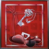 "Картина с кристаллами Swarovski ""Ключ к сердцу"""
