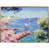 "Картина Swarovski ""Морской пейзаж"""