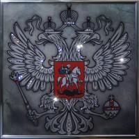 "Картина с кристаллами Swarovski ""Герб (серебро)"""