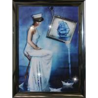 "Картина Swarovski ""Морская Дама"""