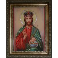 """Картина с кристаллами Swarovski """"Икона Христос Вседержитель"""""""