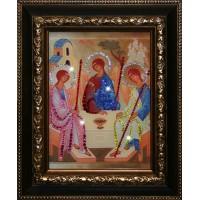 """Картина с кристаллами Swarovski """"Икона Святой Троицы"""""""