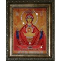 """Картина с кристаллами Swarovski """"Икона Божией Матери Неупиваемая Чаша"""""""