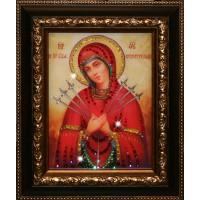 """Картина с кристаллами Swarovski """"Икона Божией Матери Семистрельная"""""""