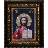 """Картина с кристаллами Swarovski """"Икона Христос Спаситель"""""""
