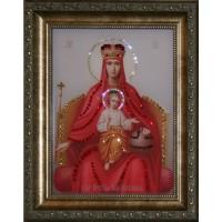 """Картина с кристаллами Swarovski """"Икона Божией Матери Державная"""""""