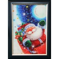 """Картина Сваровски """"Санта Клаус"""""""