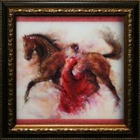 """Картина с кристаллами Swarovski """"Вдохновение"""""""