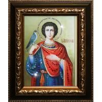 """Картина с кристаллами Swarovski """"Икона Святой Трифон"""""""