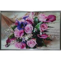 """Картина с кристаллами Swarovski """"Розовые розы"""""""