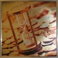 """Картина с кристаллами Swarovski """"Время деньги 1"""""""