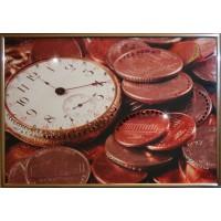 """Картина с кристаллами Swarovski """"Время деньги 2"""""""