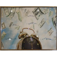 """Картина с кристаллами Swarovski """"Время деньги 4"""""""