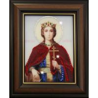 """Картина с кристаллами Swarovski """"Икона Святая Екатерина"""""""