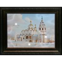 "Картина с кристаллами Swarovski ""Церковь"""