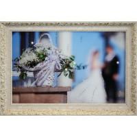 """Картина с кристаллами Swarovski """"Свадебные цветы"""""""