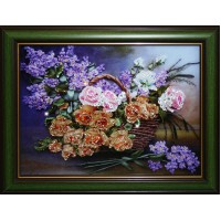 "Картина с кристаллами Swarovski ""Натюрморт: Цветы"""