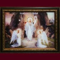 """Картина с кристаллами Swarovski """"Воскресение Христово"""""""