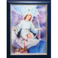 "Картина с кристаллами Swarovski ""Ангел-Защитник"""
