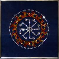 """Картина с кристаллами Swarovski """"Оберег - Колядник"""""""
