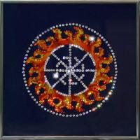 "Картина с кристаллами Swarovski ""Оберег - Свитовит"""