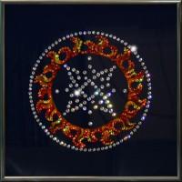 "Картина с кристаллами Swarovski ""Оберег - Квадрат Сварога"""